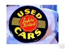 USED CARS METAL RETRO TIN  SIGN