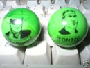LONE RANGER TONTO GLASS LOGO MARBLES