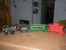 TRAIN CAST IRON FOUR PIECE