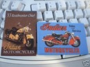 TWO INDIAN MOTORCYCLE MAGNETS