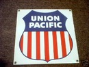 UNION PACIFIC PORCELAIN COATED SIGN