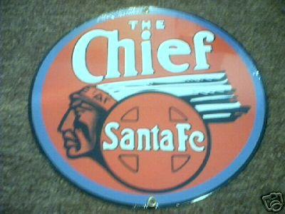 THE CHIEF SANTA FE SIGN PORCELAIN COAT