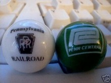 PENN CENTRAL & PRR RAILROAD MARBLES