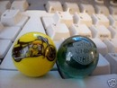 HARLEY DAVIDSON GLASS LOGO MARBLES