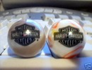 HARLEY DAVIDSON GLASS LOGO MARBLES TWO