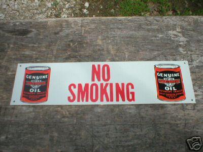 HARLEY DAVIDSON  NO SMOKING TIN SIGN