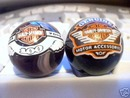 TWO HARLEY DAVIDSON LOGO MARBLES
