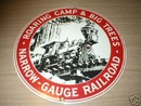 ROARING CAMP RAILROAD PORCELAIN COATED SIGN