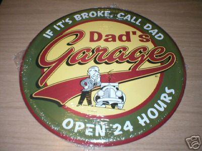 DAD'S GARAGE METAL TIN SIGN