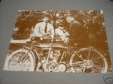 OLD INDIAN MOTORCYCLE PRINT
