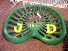 CAST IRON SEAT (MARKED JD)