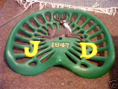 CAST IRON SEAT (MARKED JD)