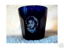 SHIRLEY TEMPLE COBALT SHOTGLASS