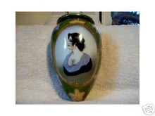 PORCELAIN COLORFUL LADY WALL POCKET