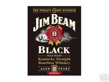 JIM  BEAM  BLACK  SIGN