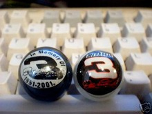 DALE EARNHARDT GLASS LOGO MARBLES