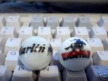 TWO MARBLES   --  MARLIN -- WINCHESTER