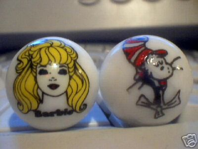 BARBIE AND CAT IN THE HAT MARBLES
