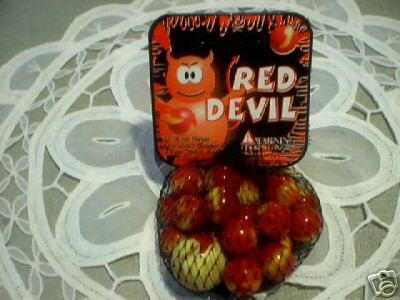 RED DEVIL MARBLES ONE BAG