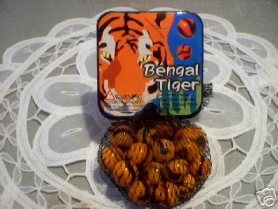 BENGAL TIGER MARBLES ONE BAG