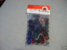 45 PURIES MARBLES 4 BAGS COBALT CLEAR RED GREEN ORANGE