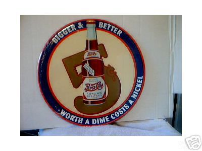 PEPSI COLA TIN SIGN METAL SODA ADV SIGNS