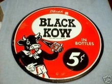 BLACK COW TIN  SIGN