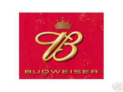 BUDWEISER BEER TIN SIGN