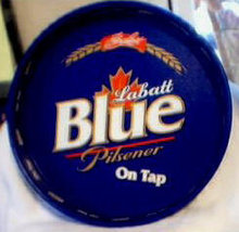 ONE LABATT  BLUE  PILSENER   SERVING  TRAYS