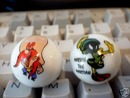 YOSEMITE SAM MARVIN THE MARTIAN  GLASS LOGO MARBLES