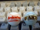 BUDWEISER GIANTS  GLASS LOGO MARBLES