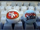 SAN FRANCISCO COORS GLASS LOGO MARBLES