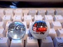 COCA COLA GLASS LOGO MARBLES