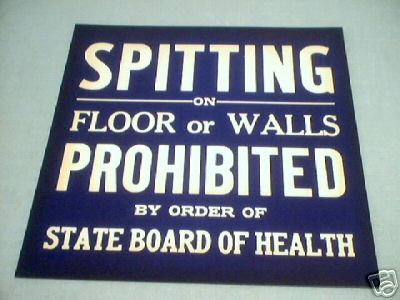 SPITTING PROHIBITED SIGN PRINT
