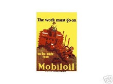 USE MOBILOIL PORCELAIN COATED SIGN