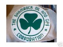 SHAMROCK OIL GAS CORPORATION TIN SIGN