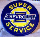 CHEVROLET SUPER SERVICE METAL SIGN