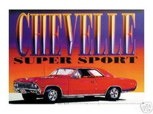 CHEVELLE SUPER SPORT TIN METAL  SIGN