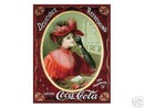 COCA-COLA SIGN  -  VICTORIAN RED DRESS