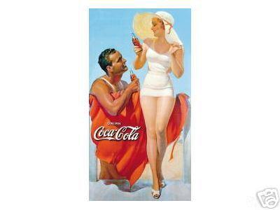 COCA-COLA  -  MAN & WOMAN AT BEACH