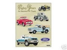 FORD EIGHTY YEARS TIN SIGN METAL ADV SIGNS F