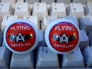 TWO FLYING A GASOLINE GASOLINE LOGO MARBLES