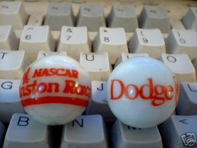 DODGE NASCAR GLASS MARBLES D