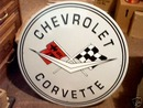 CHEVROLET CORVETTE TIN   SIGN  METAL ADV AD SIGNS