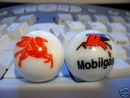 NEW MOBILGAS LOGO MARBLES ADVERTISING MARBLE NR