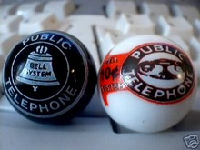 TWO DIFFERENT PUBLIC TELEPHONE MARBLES
