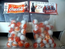 TWO BAGS OF COKE MARBLES