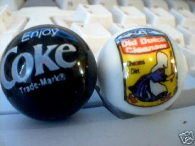 COKE & OLD DUTCH CLEANSER MARBLES