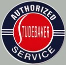 STUDEBAKER AUTHORIZED SERVICE METAL ADV SIGNS