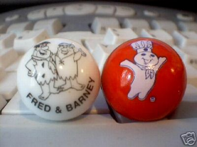 PILLSBURY AND FRED AND BARNEY MARBLES